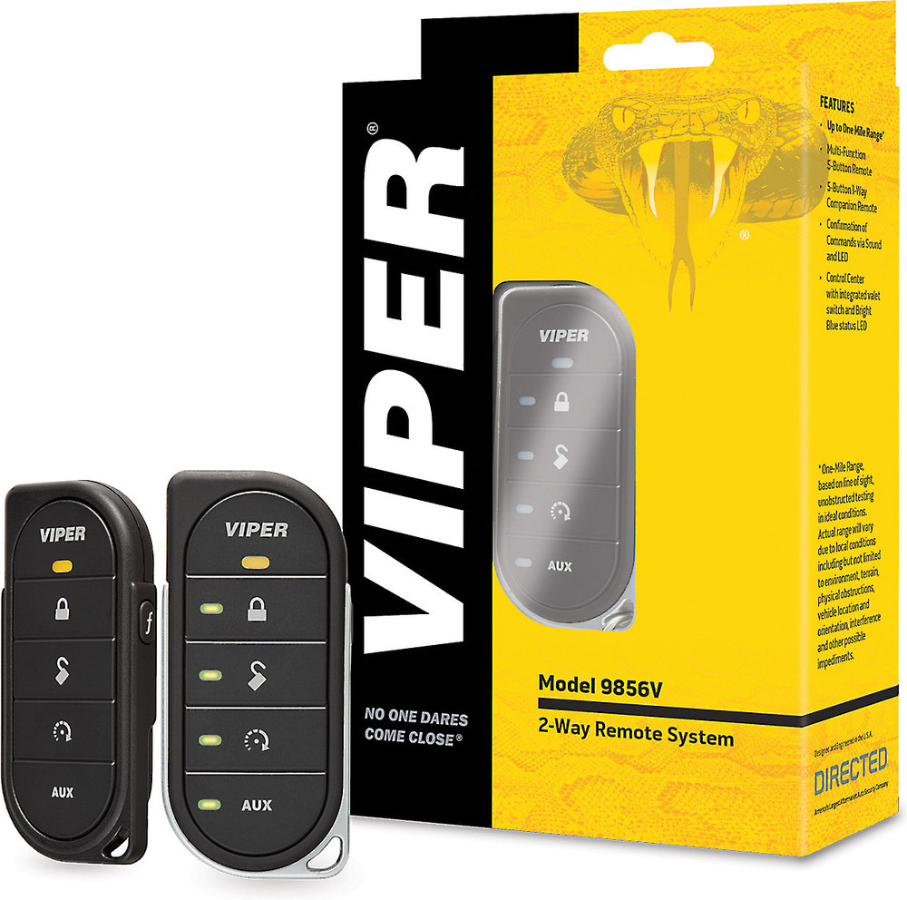 Viper Rf Kit Model 9856v 2 Way Remote Control With 1 Mile Range For Starter Directed Start Systems At
