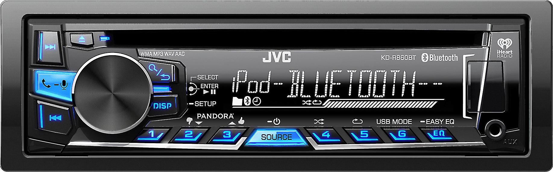 JVC KD-R860BT CD receiver at Crutchfield on