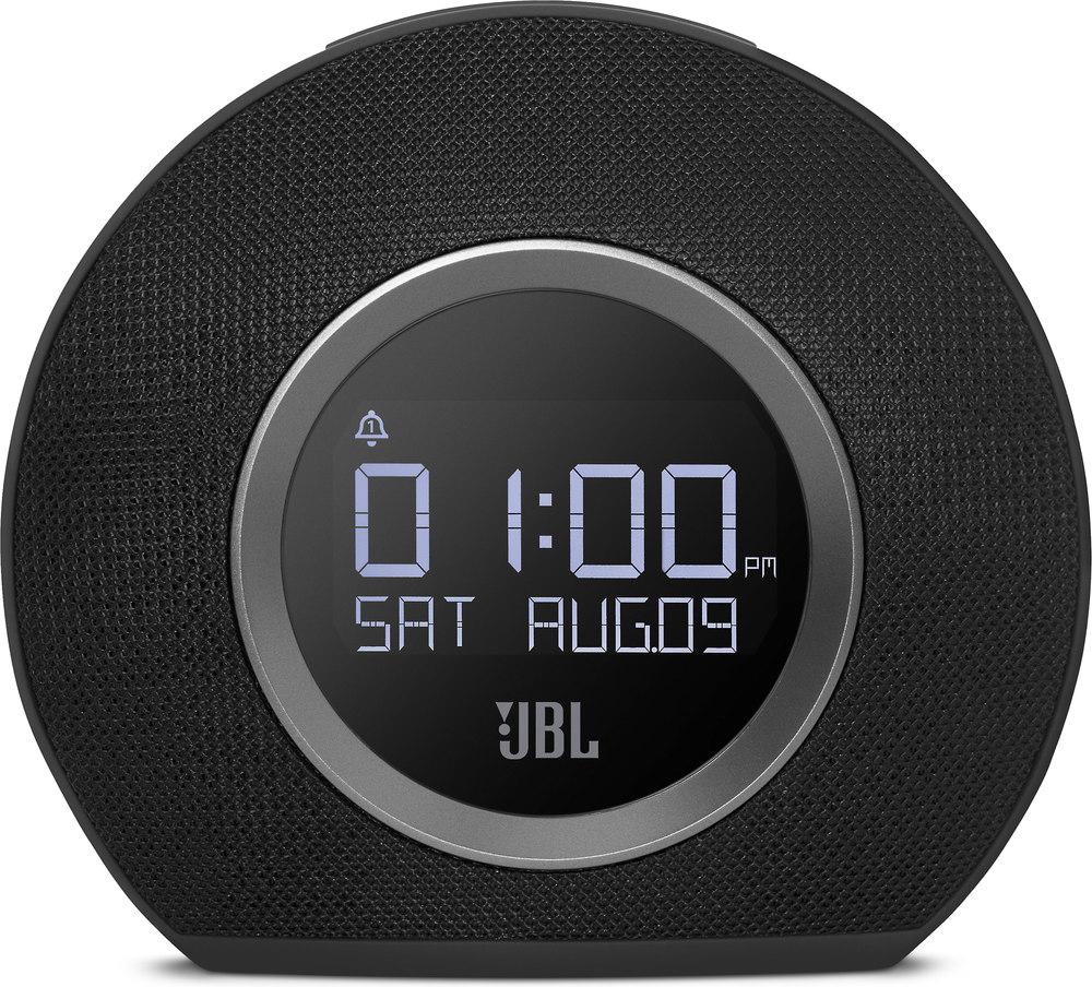 JBL Horizon (Black) FM clock radio with Bluetooth® and dual USB ...