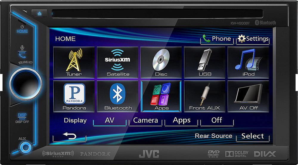 jvc arsenal kw v200bt dvd receiver at. Black Bedroom Furniture Sets. Home Design Ideas