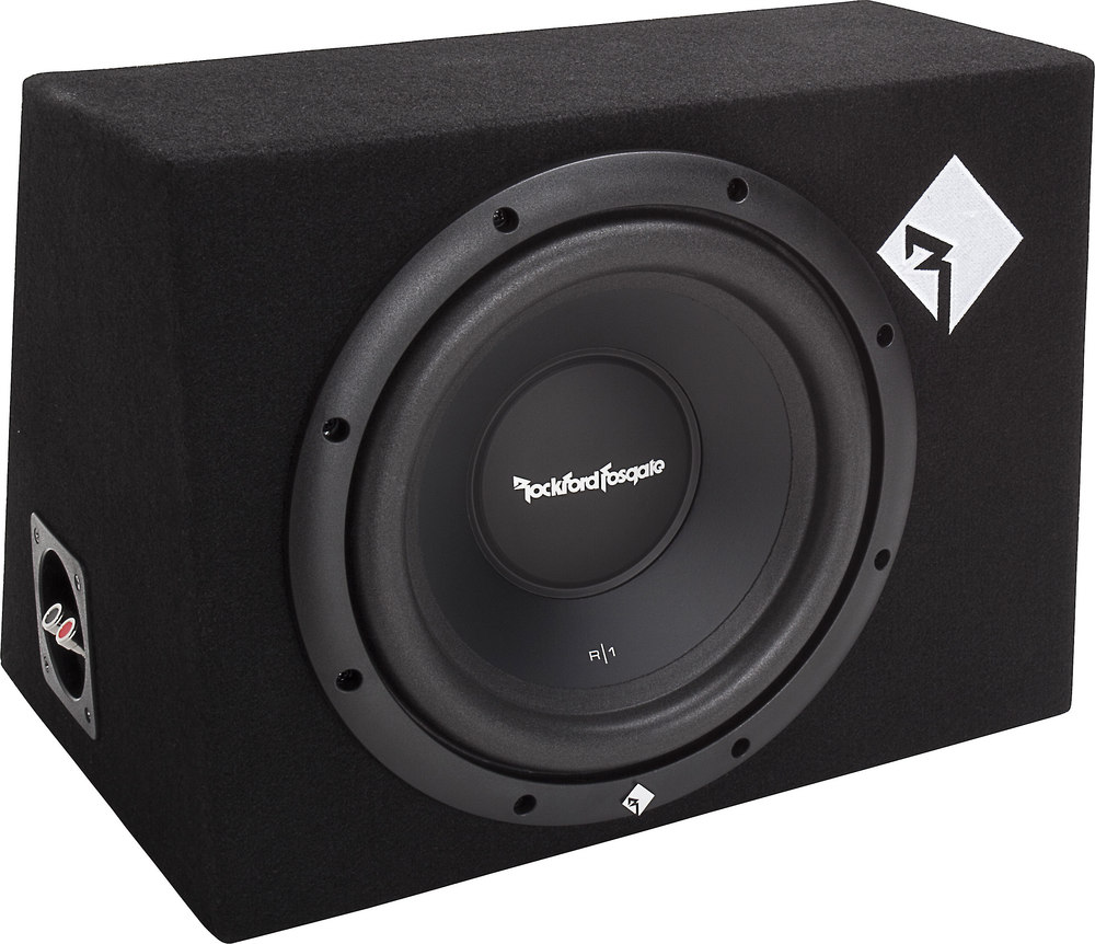Rockford Fosgate Prime R1-1X10 Sealed enclosure with one 10  Prime subwoofer at Crutchfield.com  sc 1 st  Crutchfield & Rockford Fosgate Prime R1-1X10 Sealed enclosure with one 10