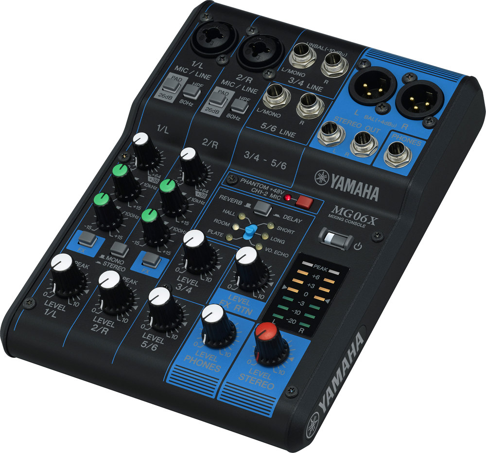 Yamaha Mg06x 6 Channel Mixer With Onboard Effects At Line Electronics Circuits For You