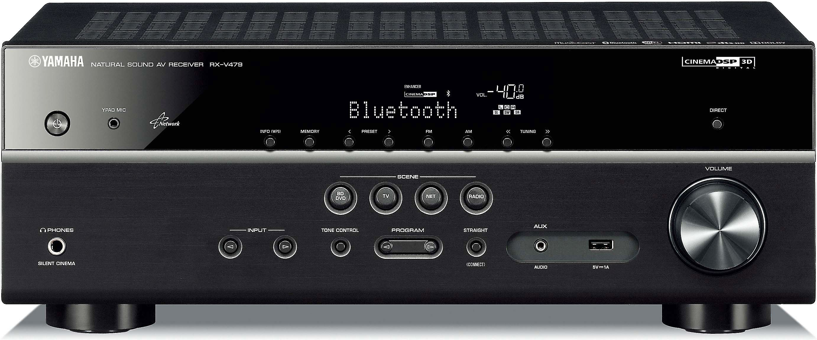 Yamaha Rx V479 51 Channel Home Theater Receiver With Wi Fi Bluetooth And Apple Airplay At Crutchfield