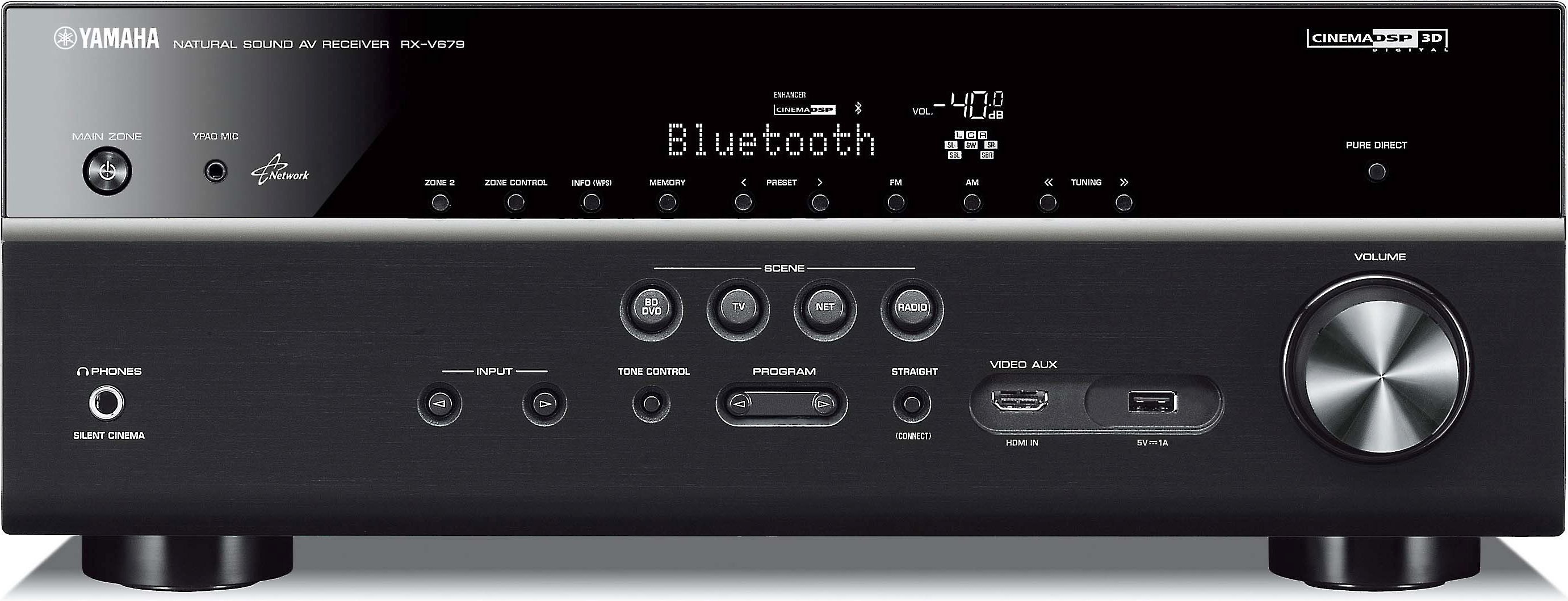 Yamaha Rx V679 72 Channel Home Theater Receiver With Wi Fi Bluetooth And Apple Airplay At Crutchfield