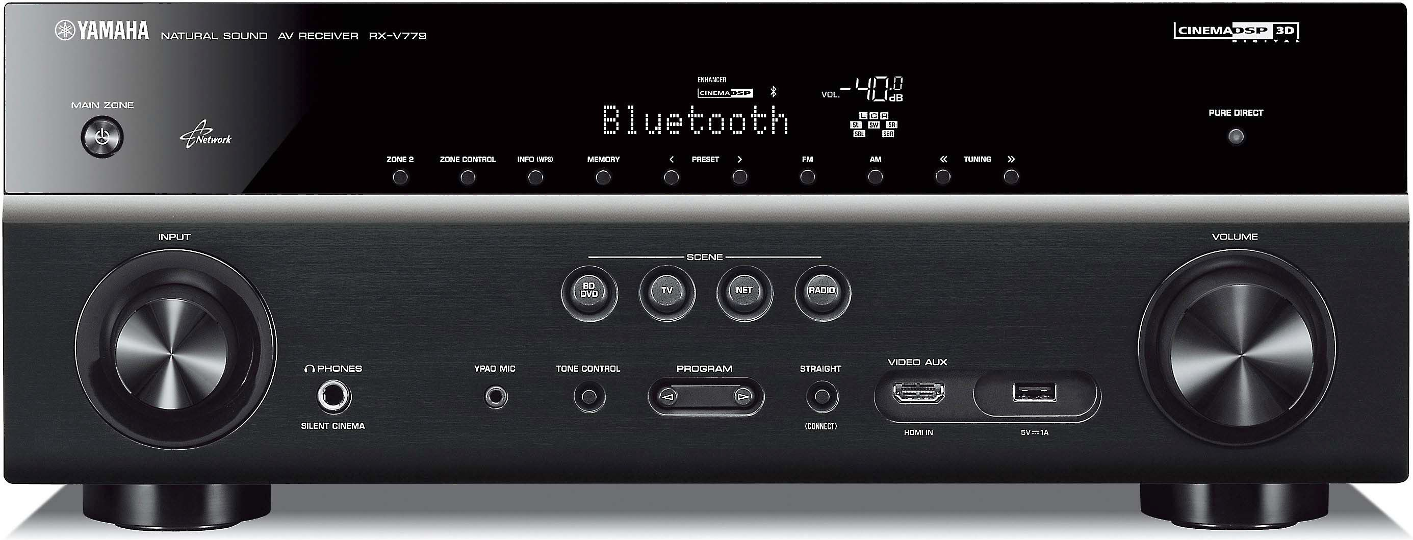 451cba15176 Yamaha RX-V779 7.2-channel home theater receiver with Wi-Fi ...