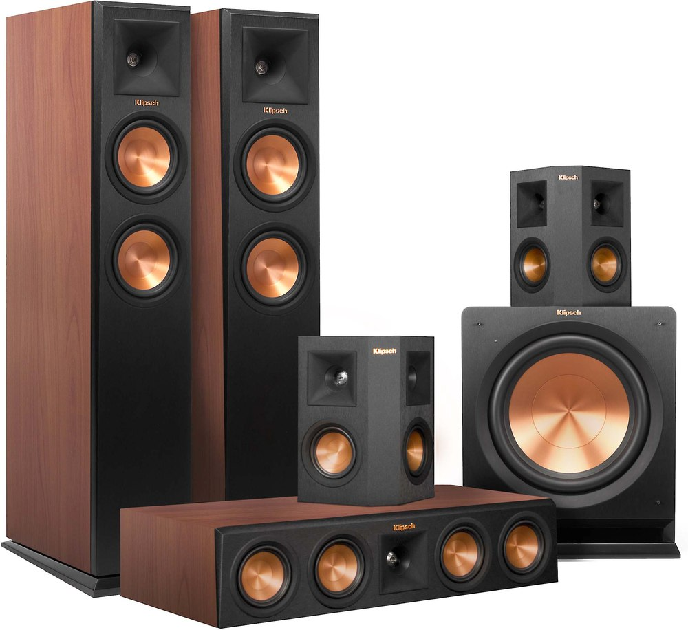 klipsch rp 250 5 1 home theater speaker system cherry. Black Bedroom Furniture Sets. Home Design Ideas