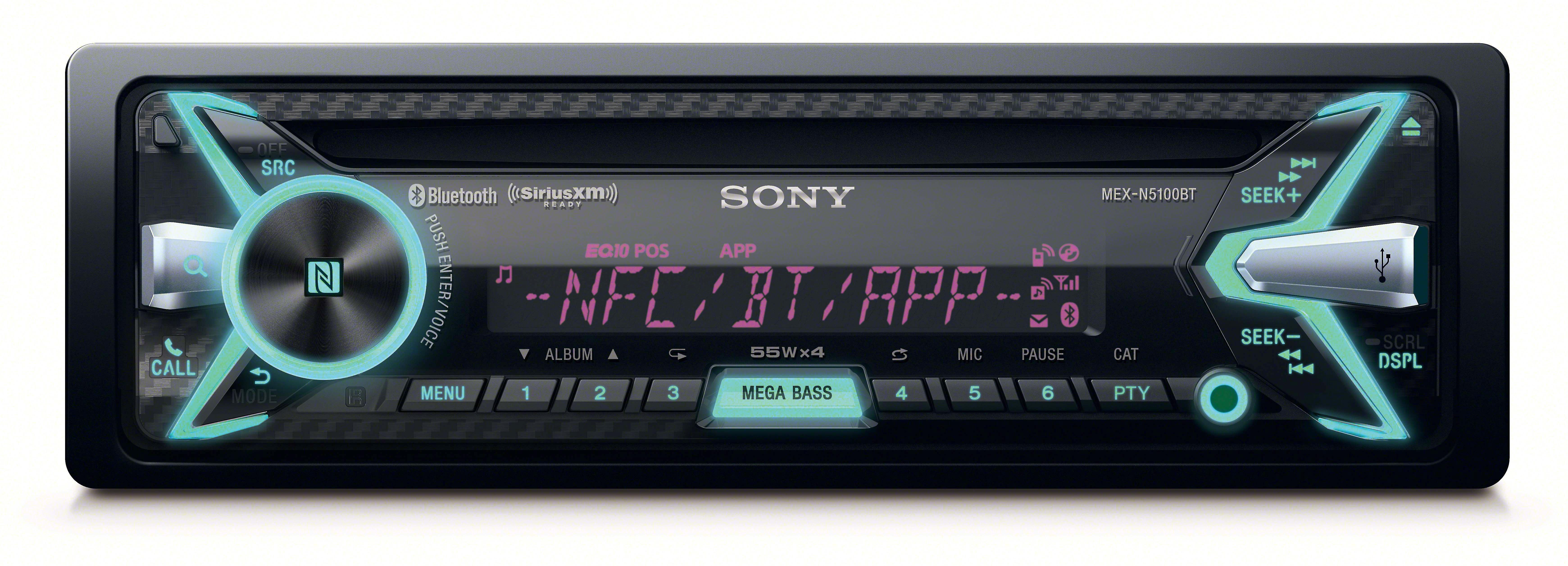 Sony MEX-N5100BT CD receiver at Crutchfield