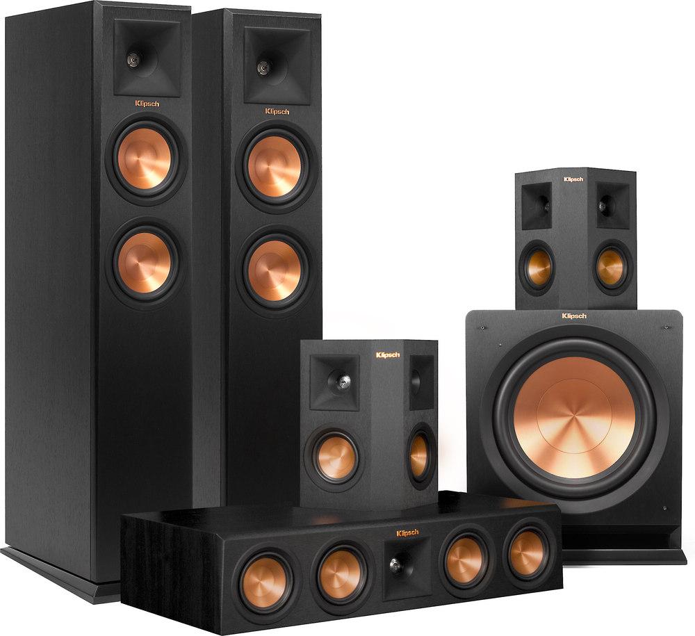 klipsch klipsch rp 250 5 1 home theater speaker system. Black Bedroom Furniture Sets. Home Design Ideas