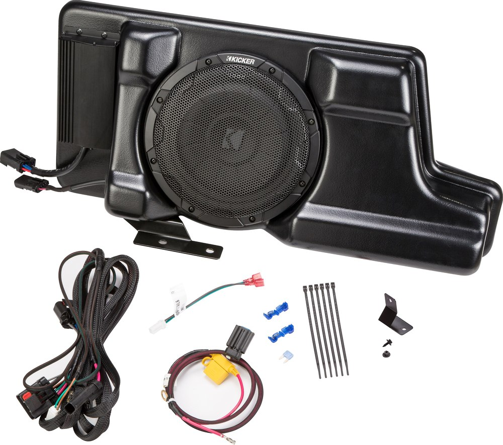Kicker Sfsdc08 Vss Substage Custom Fit Powered Subwoofer For Wiring Kit Subs Select 2008 Up Ford Super Duty Pickups At