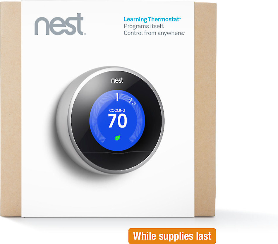 nest learning thermostat 2nd generation smart remote controlled thermostat at crutchfield
