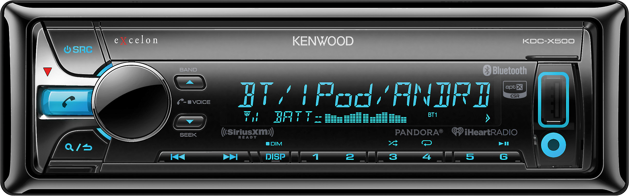 Kenwood Excelon KDC-X500 CD receiver at Crutchfield on