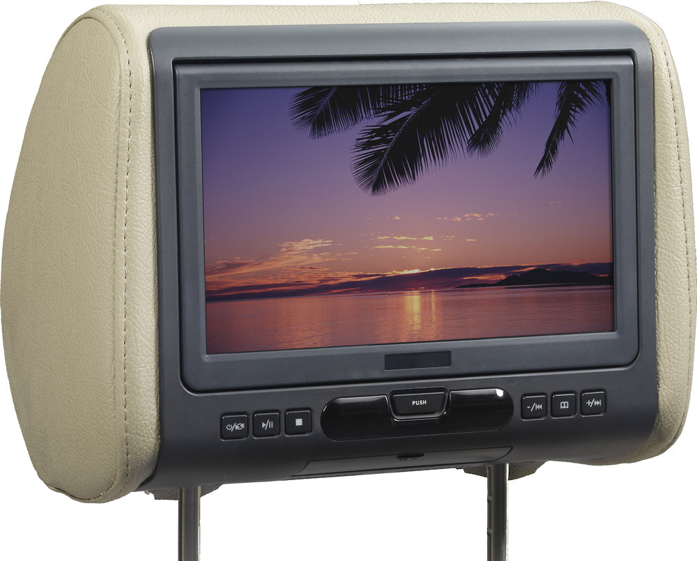 "Audiovox AVXMTGHR9HD 9"" universal headrest HD video monitor with built-in DVD  player and HDMI input at Crutchfield.com"