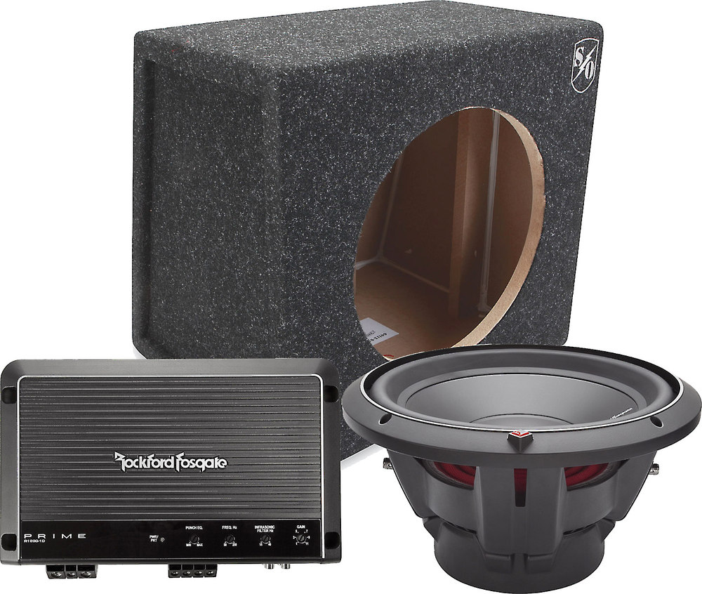 Rockford Fosgate 400 Watt Bass Package Includes R500x1d Amplifier 45 2 Sale P2d4 12 Subwoofer And Sound Ordnance Bb12 125s Sealed Enclosure At