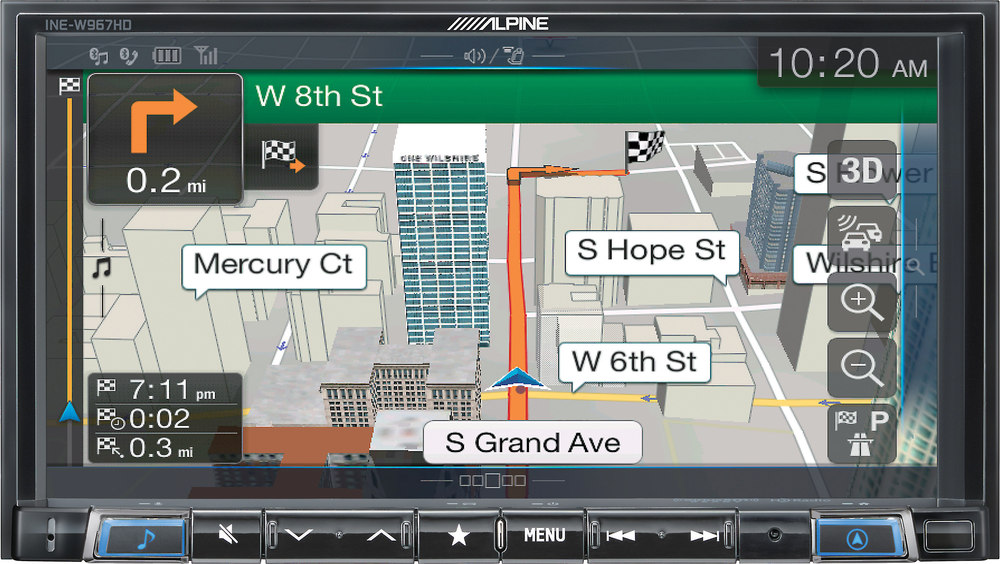 x500iNEW967 F alpine ine w967hd digital media navigation receiver (does not play  at readyjetset.co