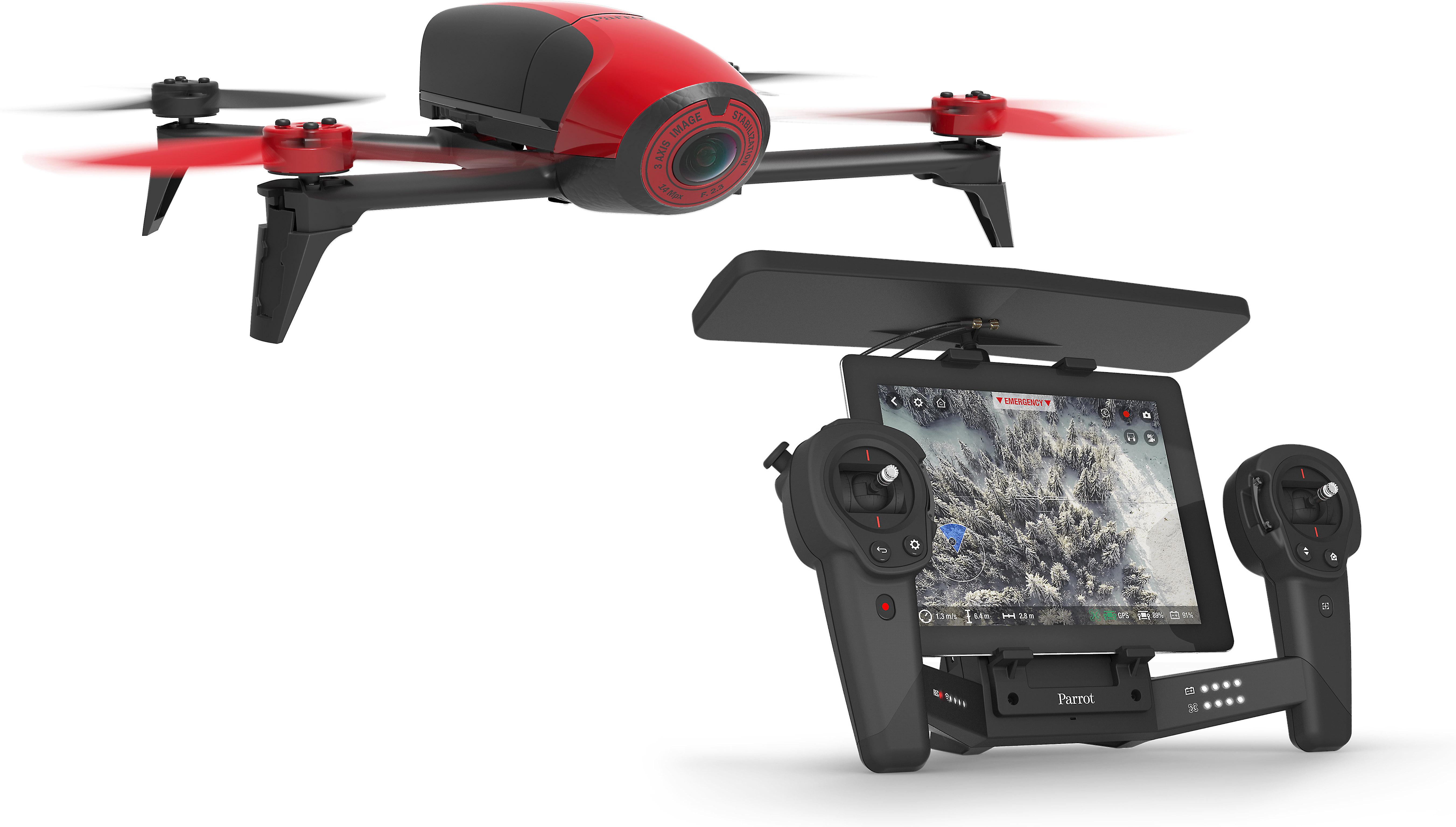 Parrot Bebop 2 Drone and Skycontroller Black Bundle (Red/Black)