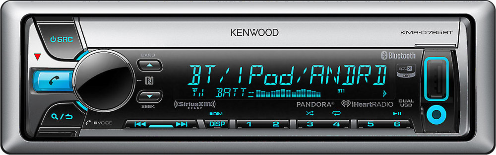 x113D765BT F kenwood kmr d765bt marine cd receiver with bluetooth� at kenwood kmr d365bt wiring diagram at bakdesigns.co