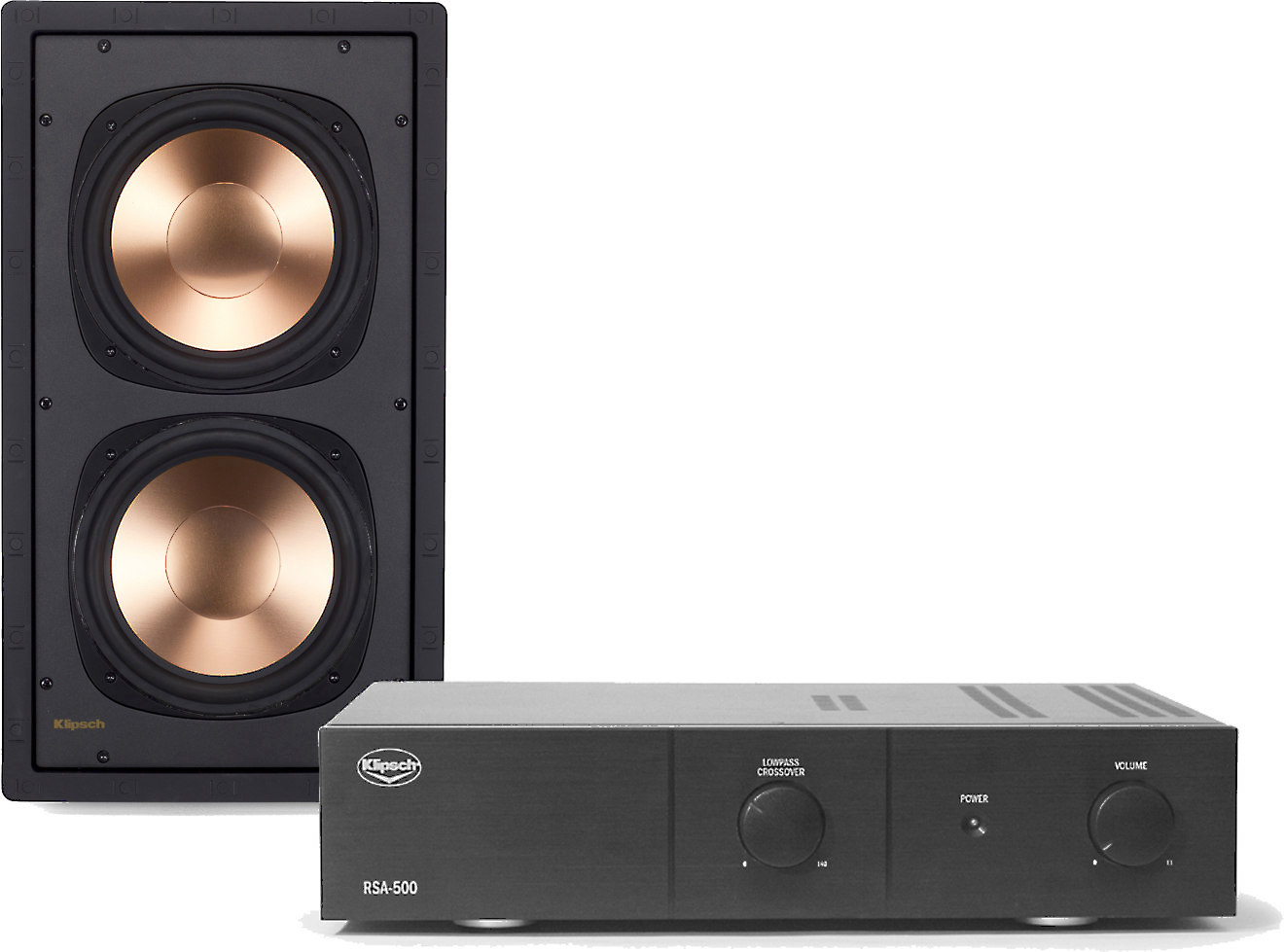 In Wall Subwoofer >> Klipsch Rw 5802 Ii Rsa 500 Passive In Wall Subwoofer With Matching