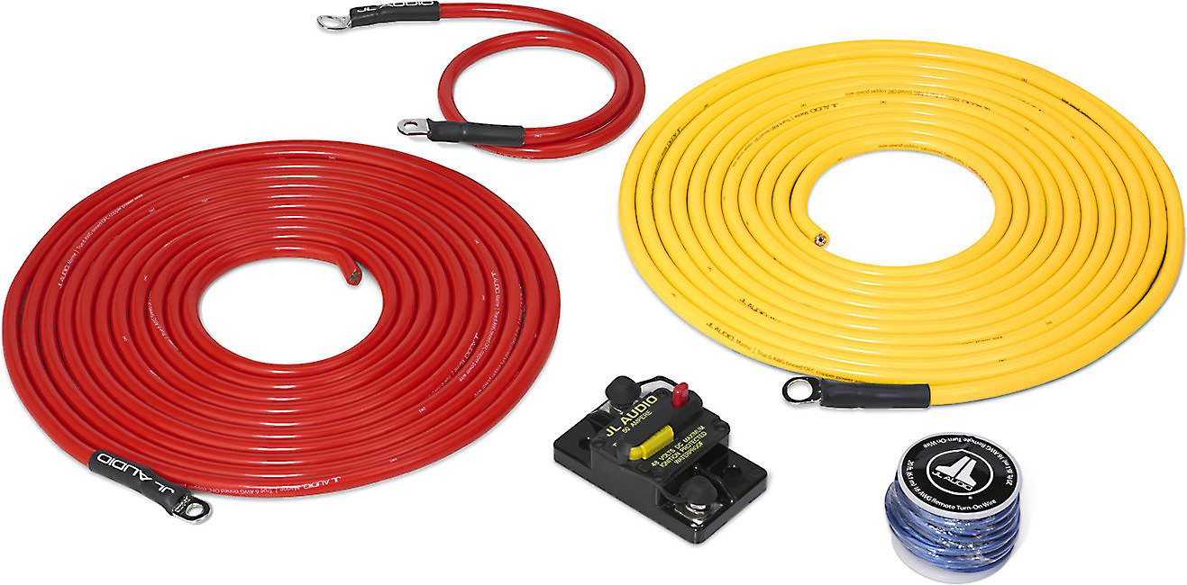 jl audio marine amp wiring kit (20 feet) 6-gauge amplifier wiring kit with  50-amp circuit breaker at crutchfield