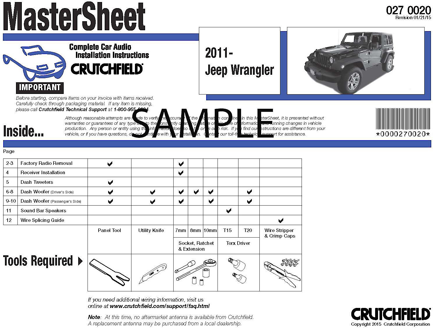 Crutchfield Vehicle-specific Instructions How to remove the