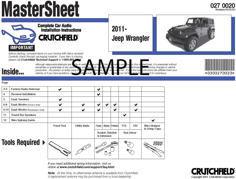 x264MASTER F crutchfield car audio installation instructions instructions for Ford Radio Wiring Diagram at bayanpartner.co