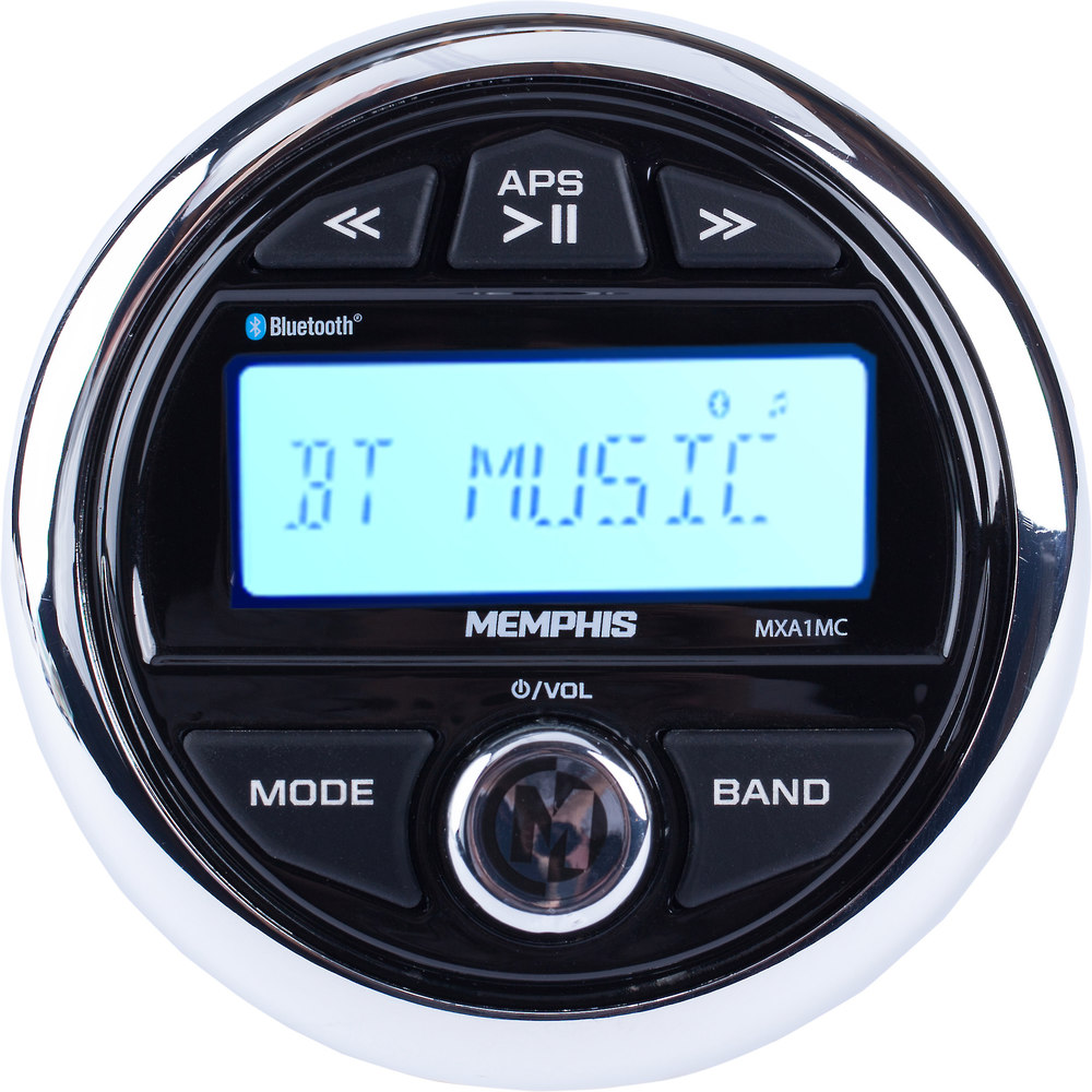 Memphis Audio 16 Mxa1mc Marine Digital Media Receiver With Built In Motorcycle Wiring Bluetooth Does Not Play Cds At