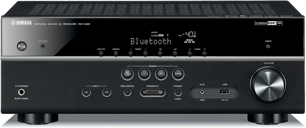 yamaha rx-v481 5.1-channel home theater receiver with wi-fi