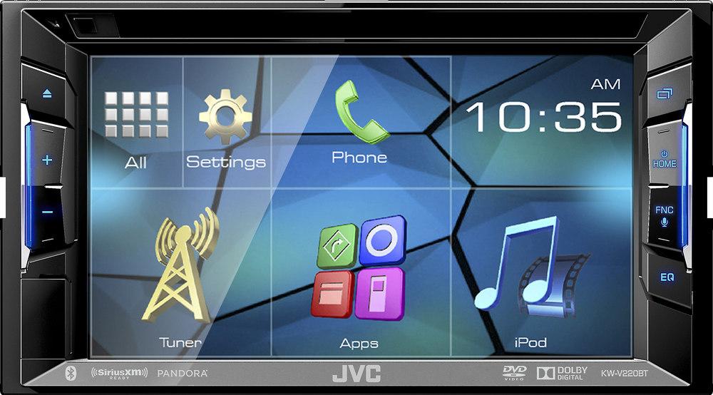 JVC KW-V220BT DVD receiver at Crutchfield.com