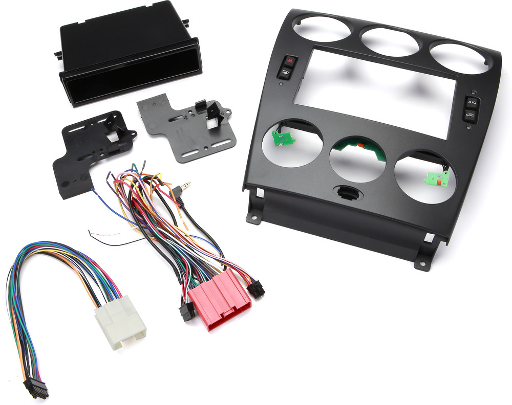 Metra 99 7524b Dash And Wiring Kit Charcoal Black Install Harness Instructions Connect A New Car Stereo Retain Your Climate Controls In Select 2006 08 Mazda 6 Vehicles