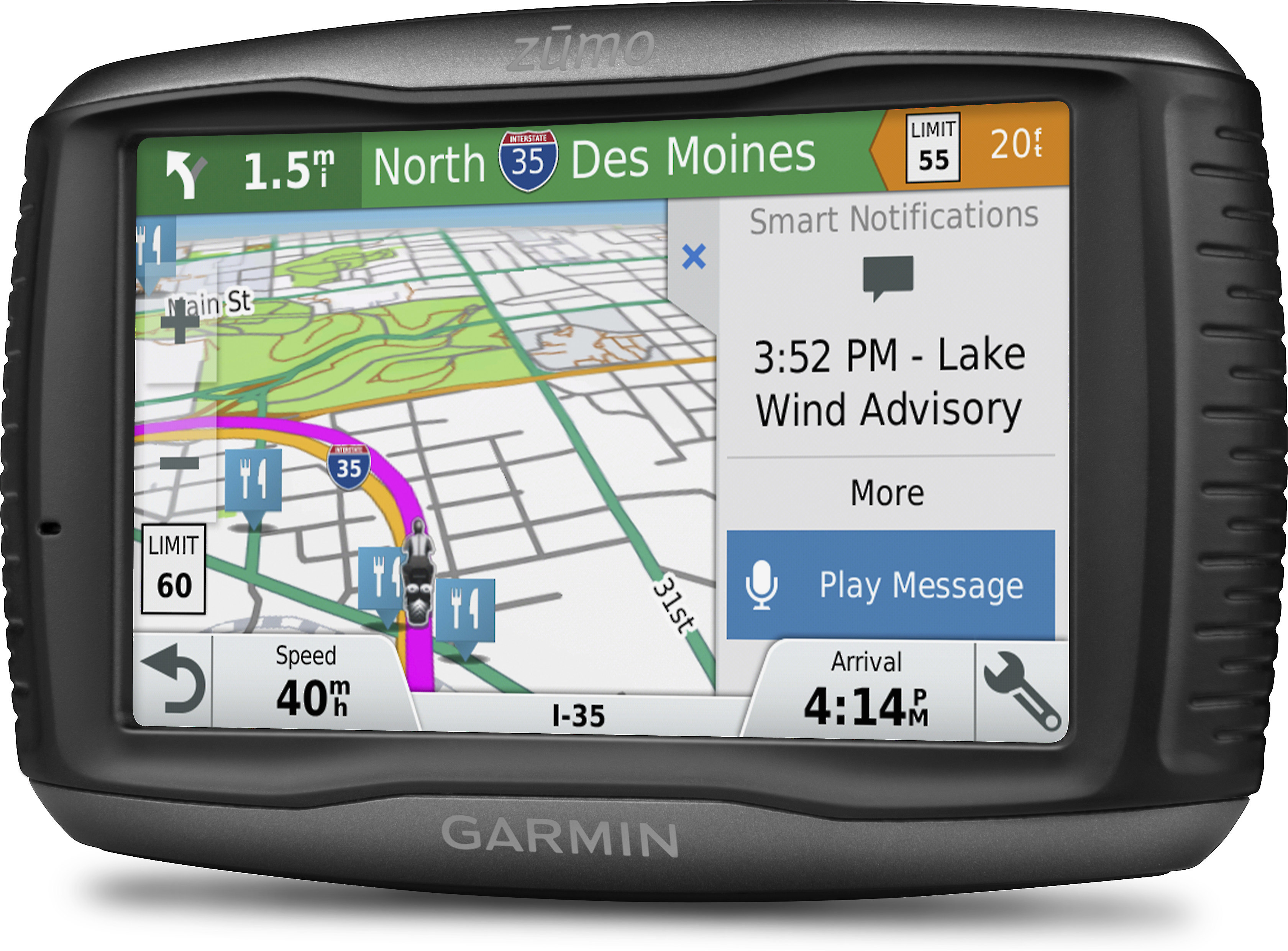Garmin zūmo® 595LM Portable motorcycle navigator with free lifetime map  updates at Crutchfield