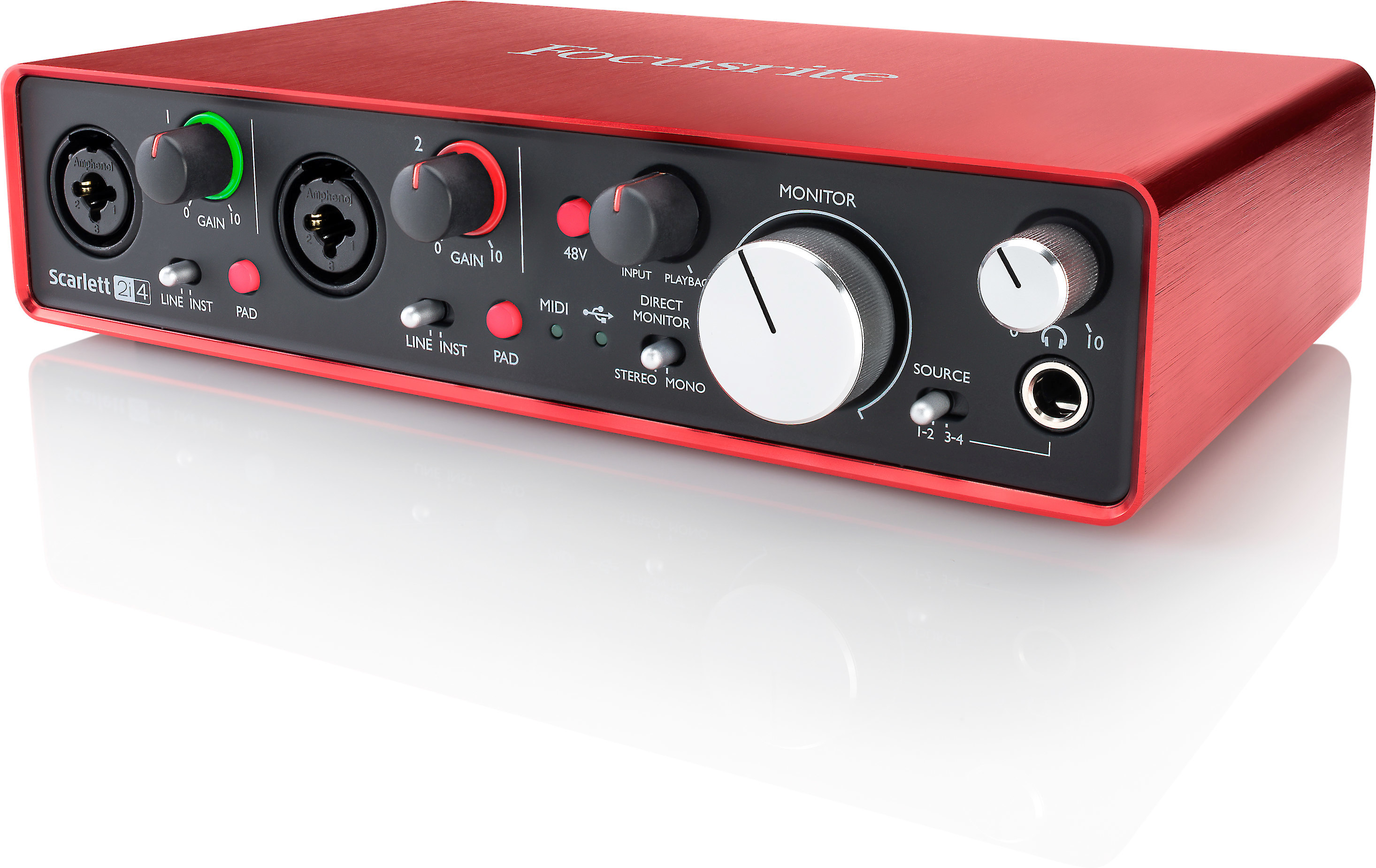 focusrite scarlett 2i4 second generation usb 2 0 audio interface for mac and pc at crutchfield. Black Bedroom Furniture Sets. Home Design Ideas