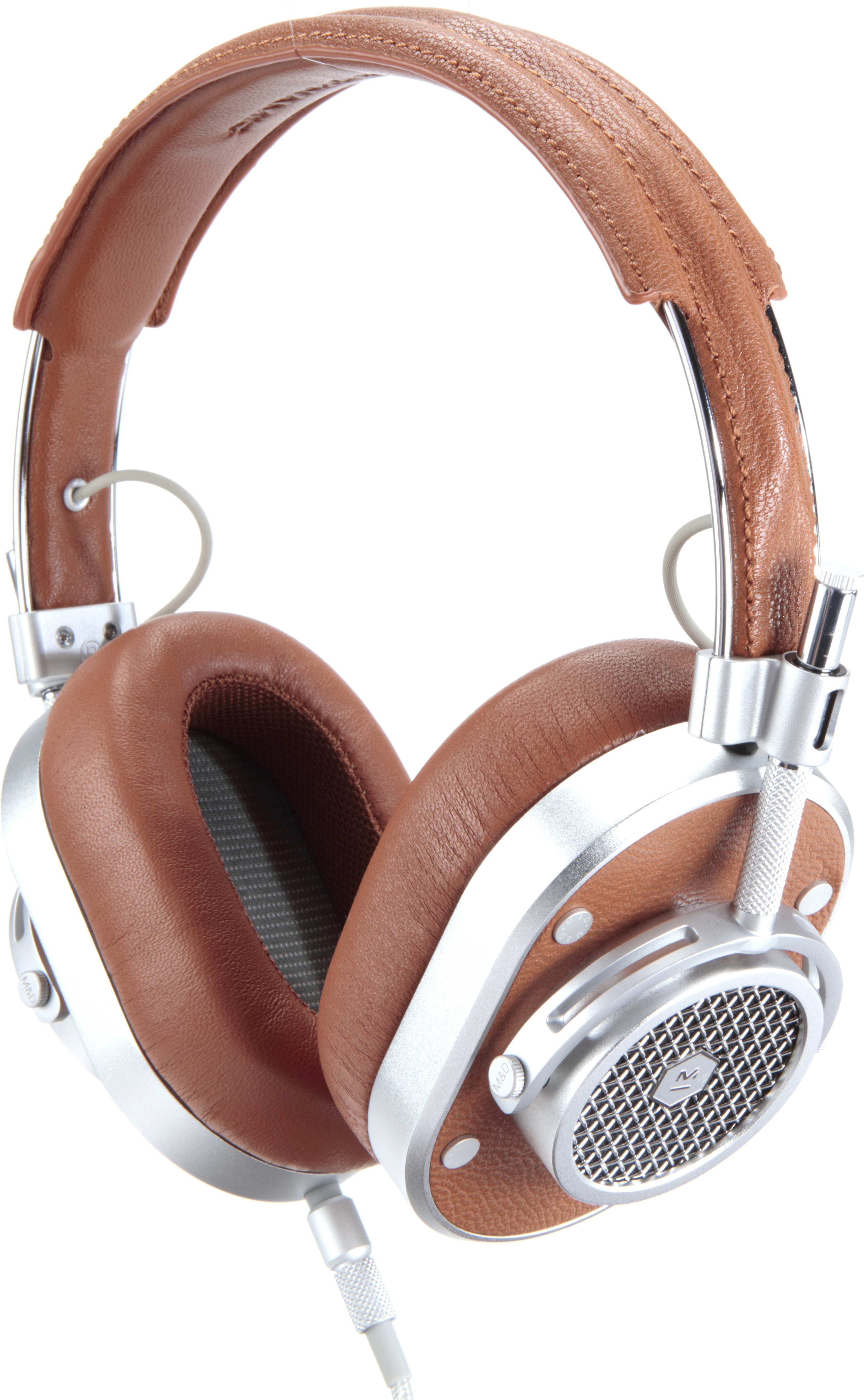 549e84c2f63d2d Master & Dynamic MH40 (Silver Metal/Brown Leather) Over-ear headphones with  Apple® remote and microphone at Crutchfield.com