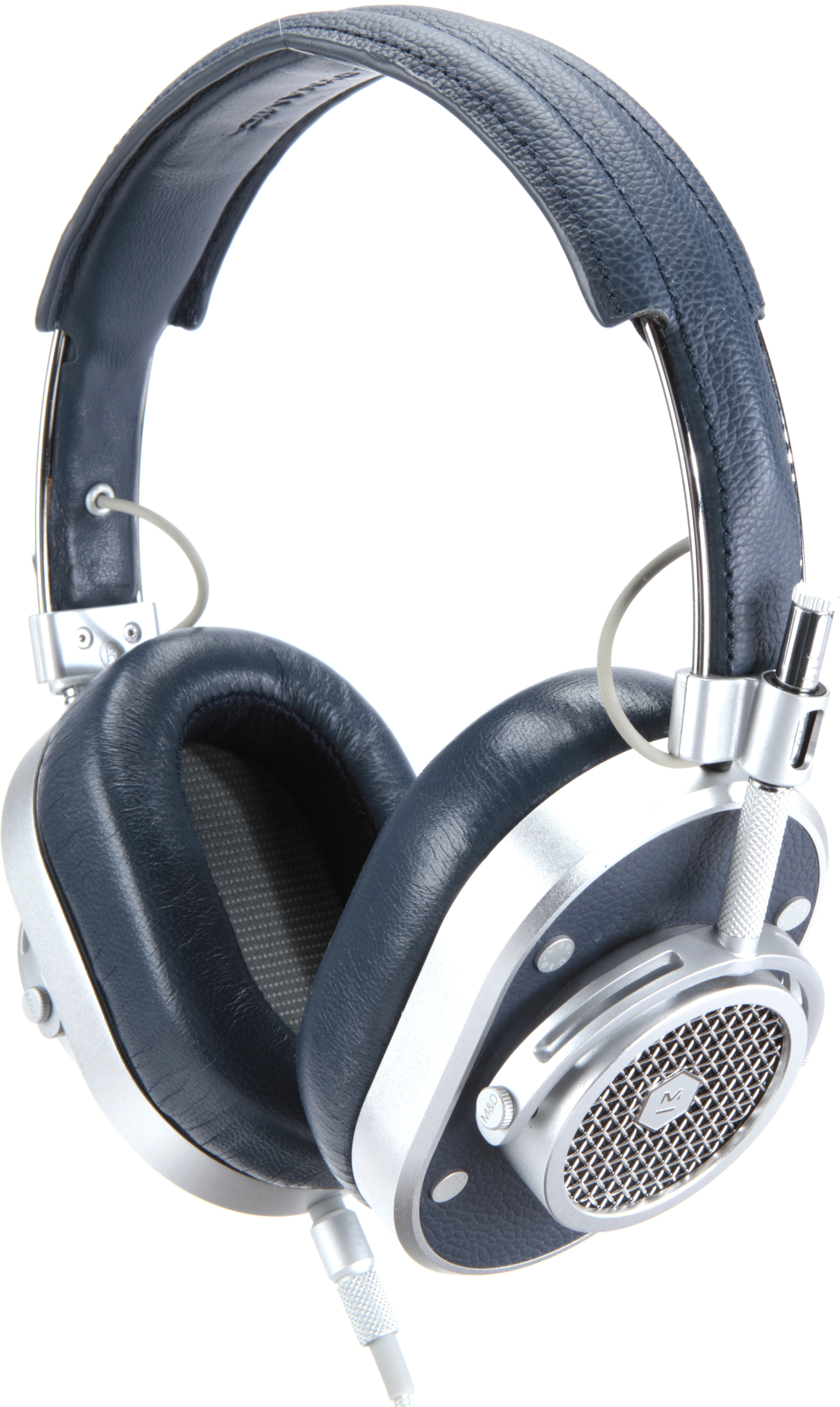 4f8a4eed8b6d91 Master & Dynamic MH40 (Silver Metal/Navy Leather) Over-ear headphones with  Apple® remote and microphone at Crutchfield.com