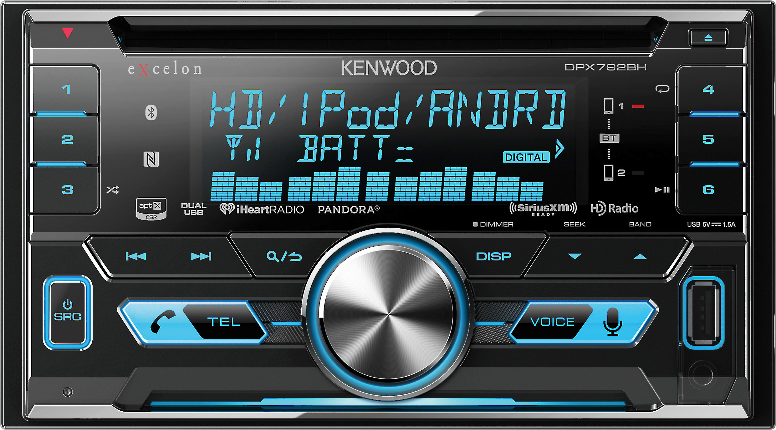 Kenwood Excelon DPX792BH CD receiver at Crutchfield on