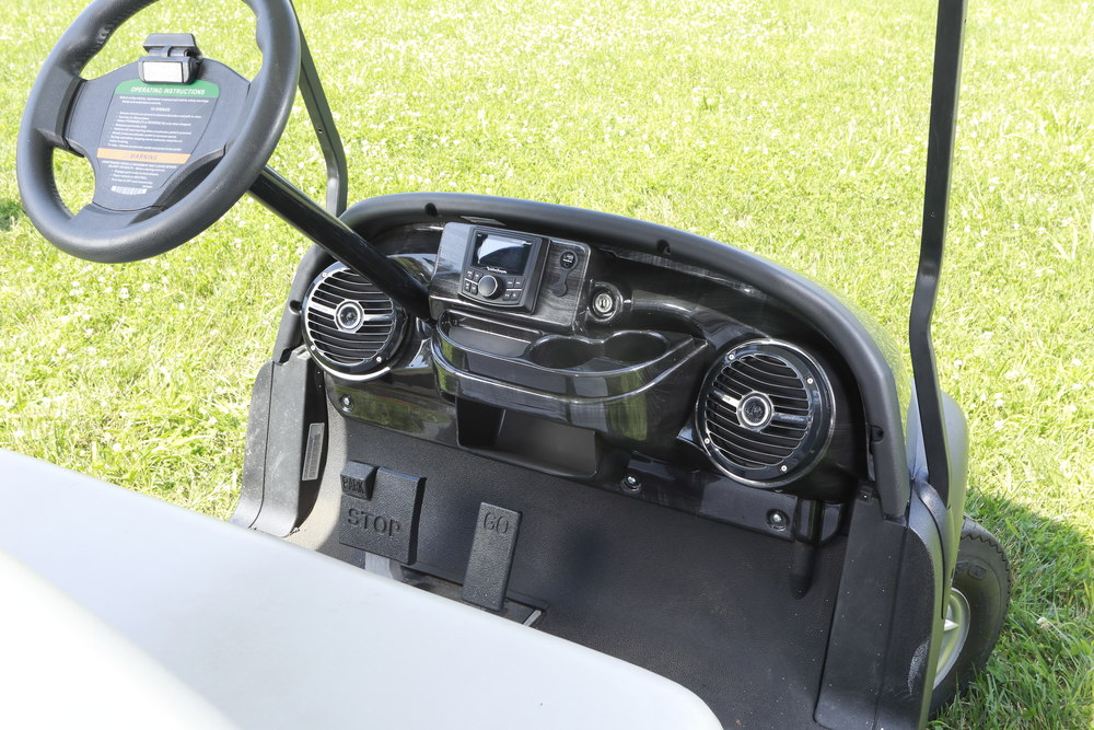 Custom Fit Golf Cart Stereo Systems For Select Club Car