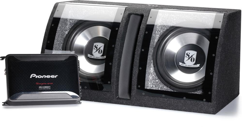 pioneer 390bs. sound ordnance/pioneer 500-watt bass package pioneer 390bs