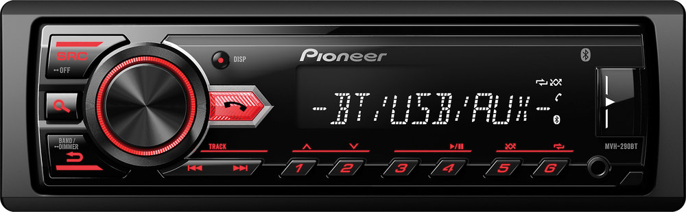 x130X290BT F pioneer mvh 290bt digital media receiver (does not play cds) at  at gsmportal.co