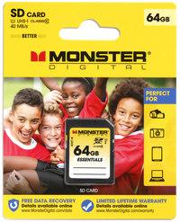 Monster Digital Essentials 64GB SD Card 40MB/s