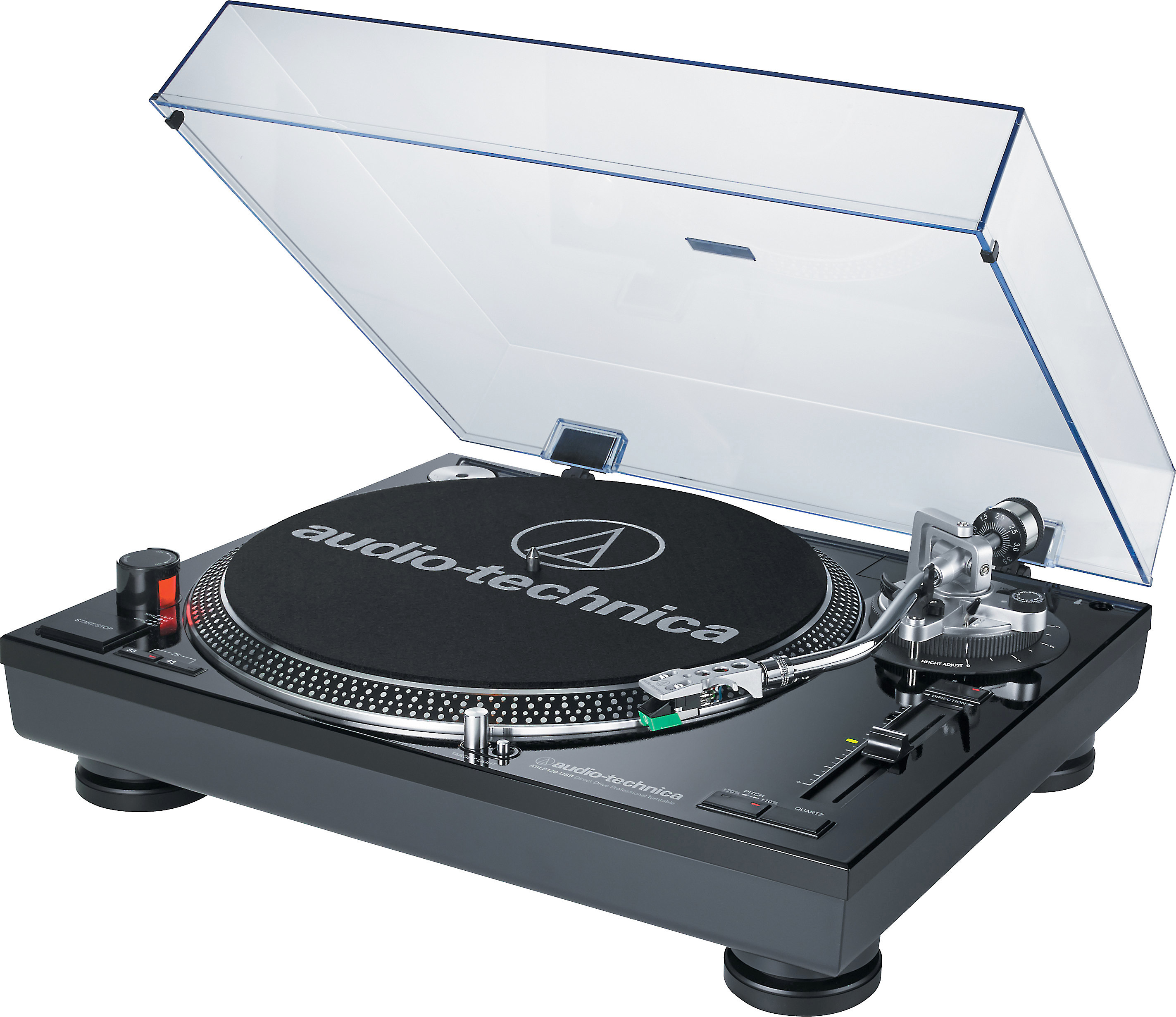 Audio Technica AT LP120 USB (Black) Manual direct drive professional turntable with USB output and built in phono preamp at Crutchfield