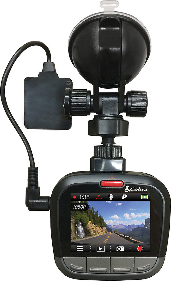 cobra cdr 875g hd dash cam with bluetooth u00ae and built in