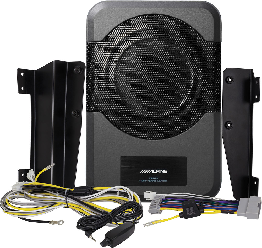 x500PWES8WR F alpine pwe s8 wra compact powered subwoofer designed for 2011 up PWE S8 Alpine Review at soozxer.org