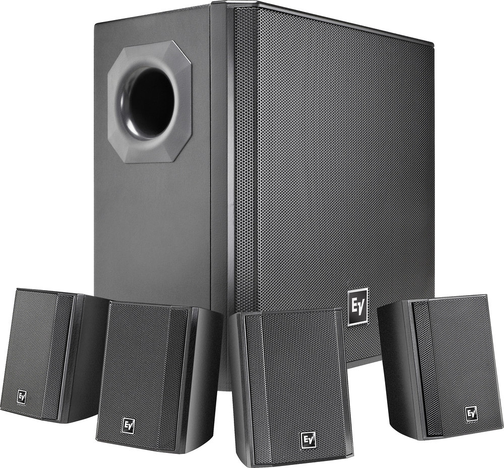 Electro-Voice EVID Compact Sound (Black) Subwoofer and speaker bundle for  commercial use at Crutchfield.com