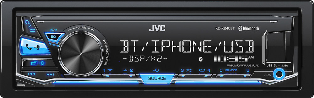 jvc kd x240bt digital media receiver does not play cds at rh crutchfield com JVC Wiring Harness JVC KD R530 Wiring-Diagram