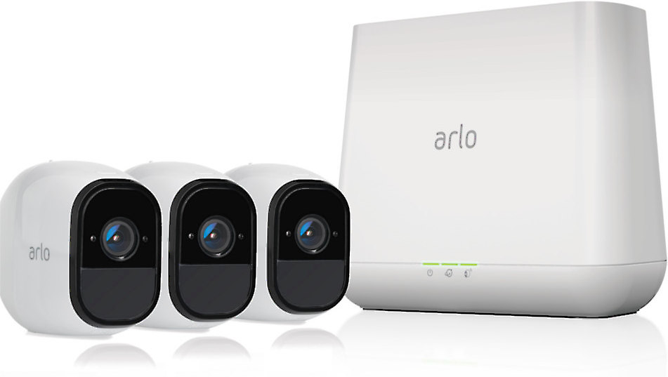 Arlo Pro Home Security Camera System 3 HD, 100% wire-free indoor/outdoor rechargeable cameras with night vision (VMS4330) at Crutchfield.com indoor
