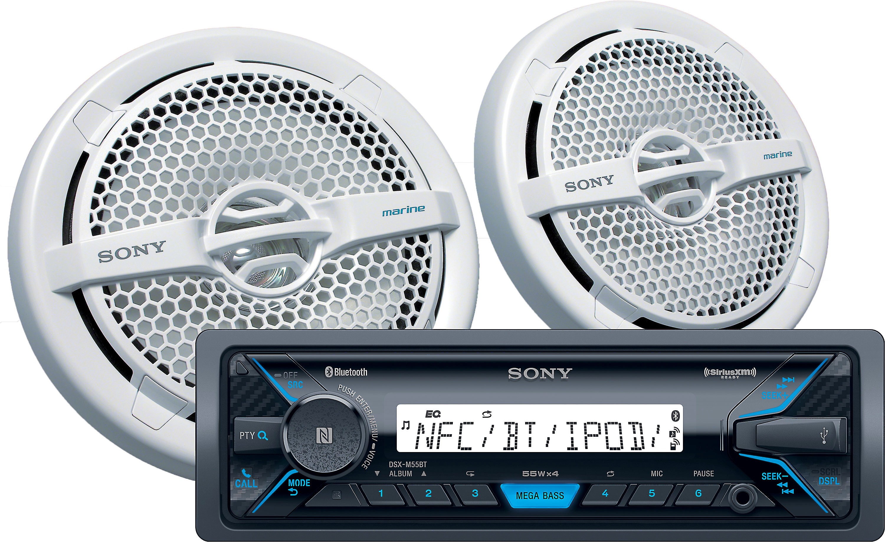 Pair of Sony Model XS-MP1611 Marine Boat Speakers 140w Tested