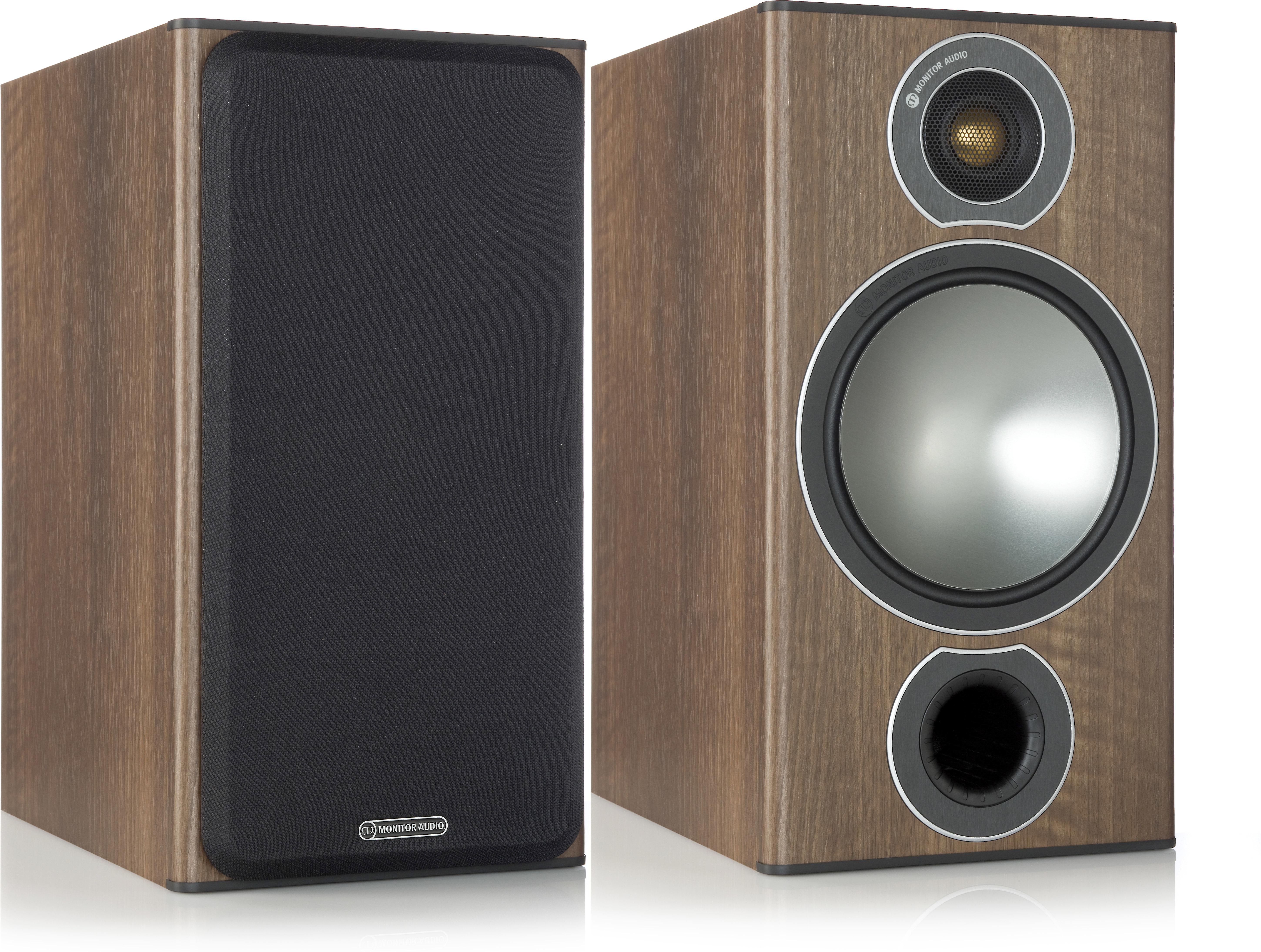 Monitor Audio Bronze 10 (Walnut Vinyl) Bookshelf speakers at Crutchfield