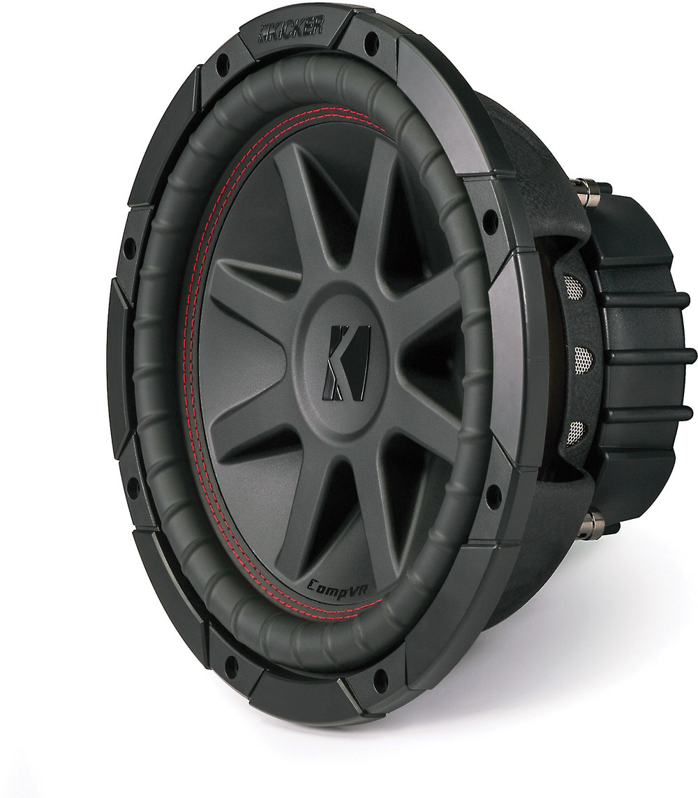 "Kicker CompVR 43CVR104 10"" subwoofer with dual 4-ohm voice coils at  Crutchfield.com"
