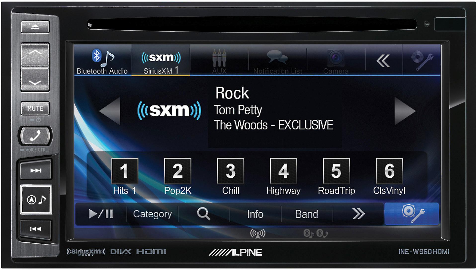 ec4a0d500 Alpine INE-W960HDMI Navigation receiver with free SiriusXM Satellite Radio  tuner at Crutchfield.com