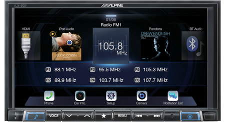 Alpine Ilx 207 Digital Multimedia Receiver With Android Auto And