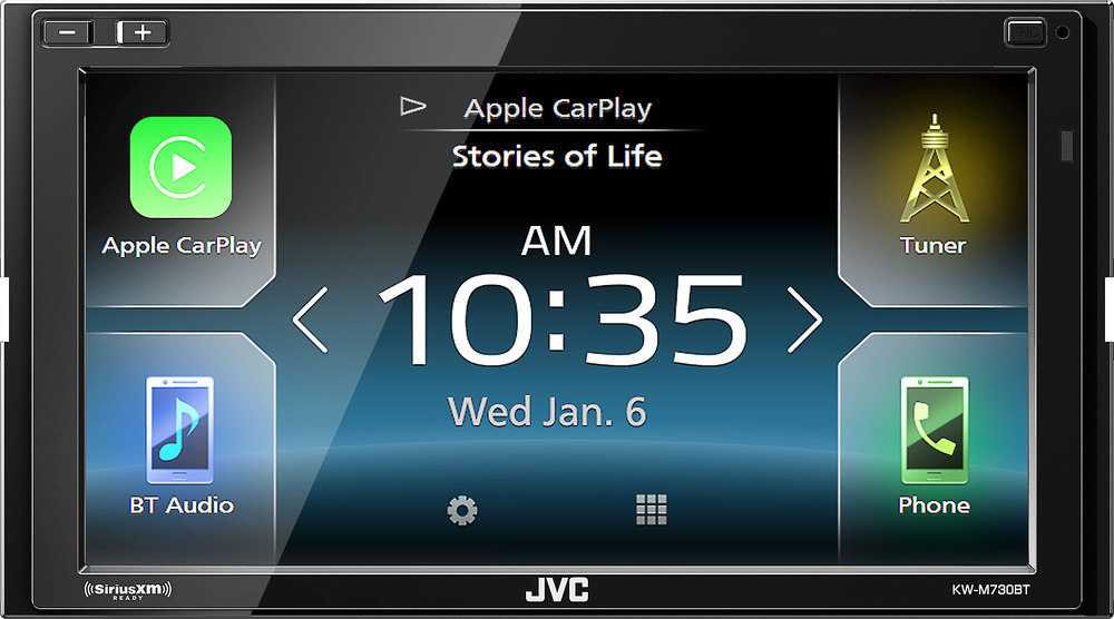 JVC KW-M730BT Digital multimedia receiver (does not play CDs) at ...