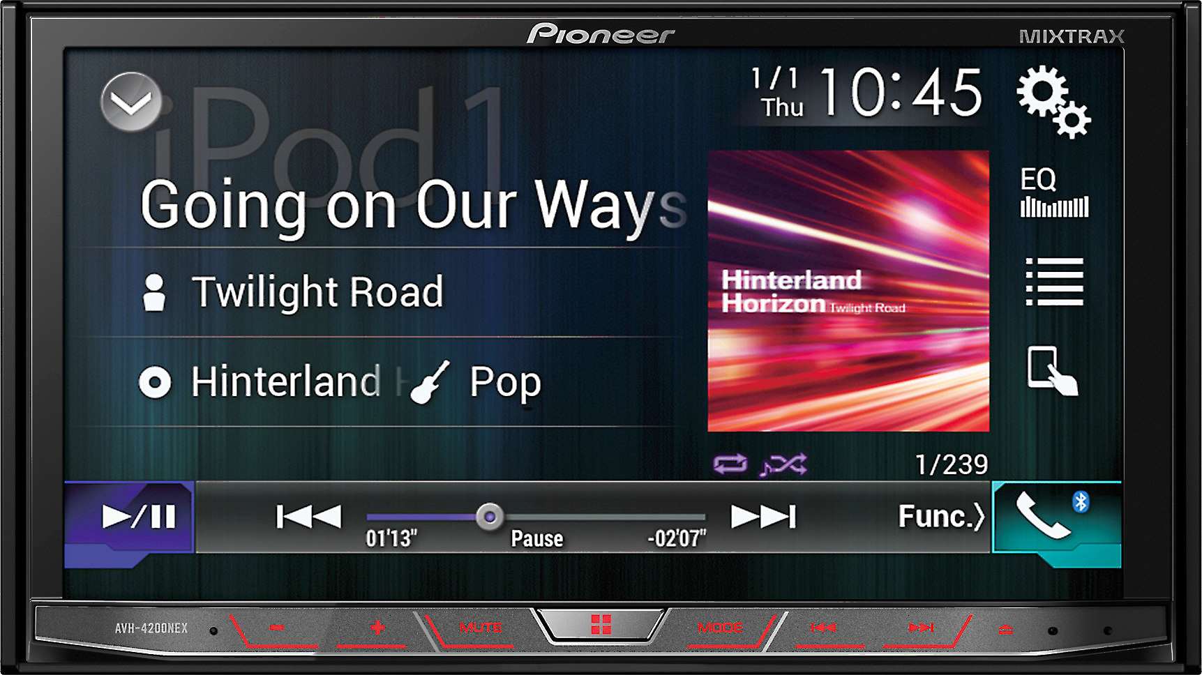 Pioneer AVH-4200NEX DVD receiver at Crutchfield.com on